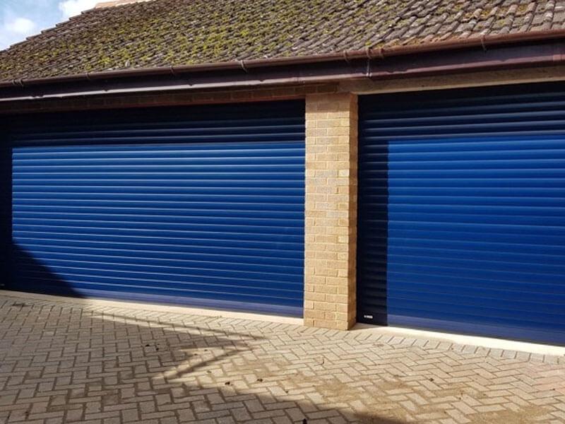 Puertas de garaje enrollables doble